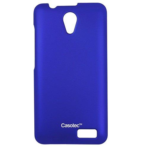 Casotec Ultra Slim Hard Shell Back Case Cover w/ Screen Protector forLenovo A319 - Dark Blue