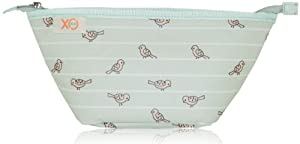 xo(eco) Beauty Clutch, Sage Birds