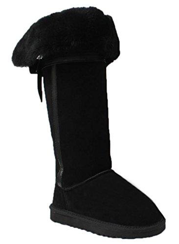 Ace Women'S Flat Knee High Snow Boot Winter Boots (7)