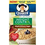 Quaker Instant Oatmeal - Weight Control - mapple & brown sugar (8x45g)