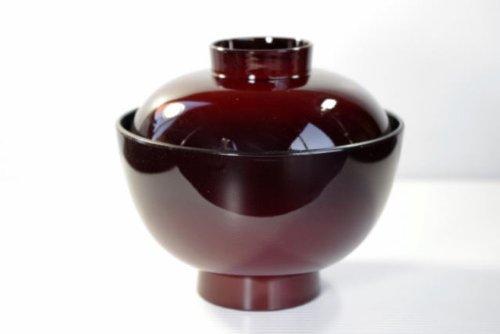 耐熱ワインレッド味噌汁椀・吸い物椀310-055-10【アウトレット品こみ】CW100