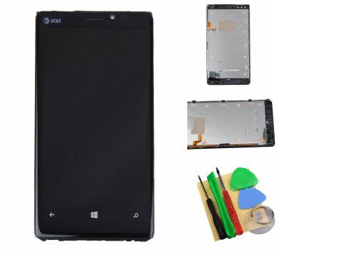 Full Touch Screen + Lcd Display Assembly With Frame For Nokia Lumia 920 At&T