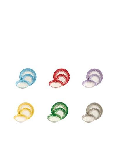 Satur Vajilla 18 Piezas Circo Loco Multicolor