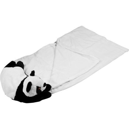 More image Happy Camper Kids Panda Pet Pillow Sleeping Bag Combo