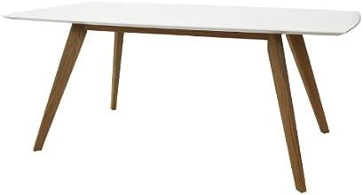 Tenzo 2180-001 Bess - Designer Esstisch, 75 x 185 x 95 cm, weiß / eiche