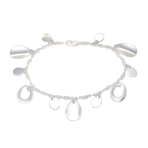 Silver Bs2055 Multi Drop Bracelet 7.5'