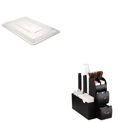 KITEMSCAD01BLKRCP3310CLE - Value Kit - Rubbermaid-Clear Food Lid (RCP3310CLE) and Ems Mind Reader Llc Coffee Organizer (EMSCAD01BLK)