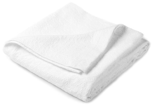 Why Should You Buy Pinzon Avalon Matelasse 100-Percent Cotton Jacquard Coverlet, Full/Queen, White