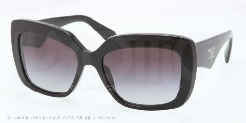 prada Prada 03QS 1AB0A7 Black 03QS Handbag Square Sunglasses Lens Category 2