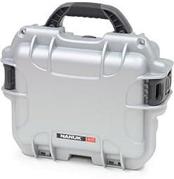 Nanuk 905 Water/Crush Proof Case w/Foam,Lock and Strap,Silver