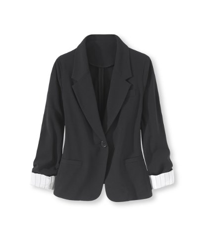 Two-Way Stretch Girlfriend Blazer by Newport News