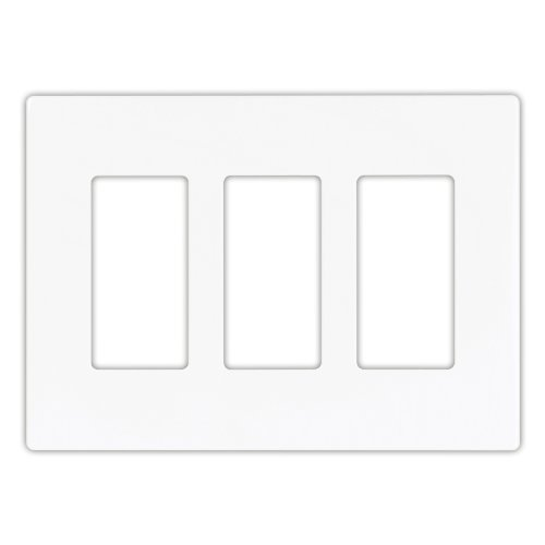 Cooper Wiring Devices Pjs263W Decorator Screwless Wallplate, 3-Gang, White