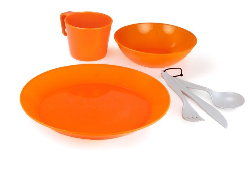 GSI Outdoors Cascadian 1 Person Tableset (Orange)