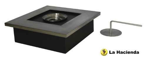 La Hacienda Stainless Steel Square Gel Burner