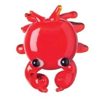 Ganz Miniature Glass Figurine - Red Crab