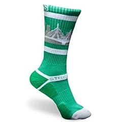 Strideline BOSTON Celtics Athletic Crew Socks, One Size by Strideline