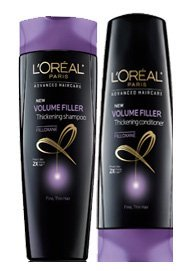 Loreal Volume Filler Thickening Shampoo and Conditioner 12.6 Fl Oz Each (Bundle of 2)