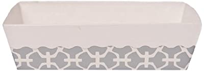 Simply Baked Paper Loaf Pan, Silver Lattice, 6 pans