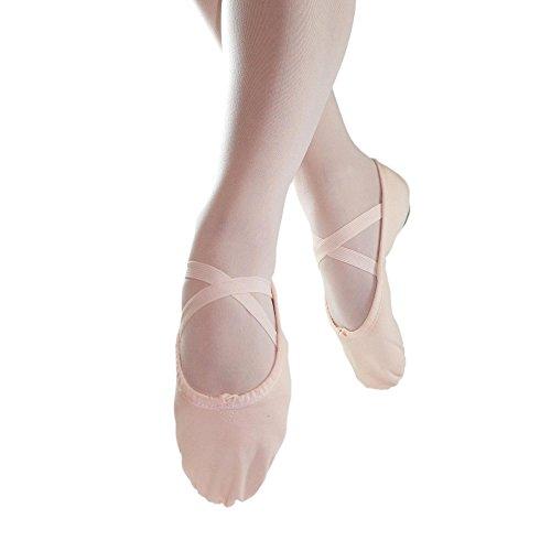 Danzcue Adult Split Sole Canvas Pink Ballet Slipper 10 M US (Split Sole Ballet Shoes compare prices)
