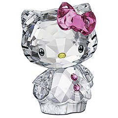 スワロフスキー SWAROVSKI クリスタル フィギュア Hello Kitty Pink Bow (ハローキティ ピンクリボン) Hello Kitty COLLECTION 1096877 「並行輸入品」