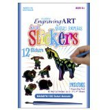 Rainbow Engraving Art Stickers-Safari Animals