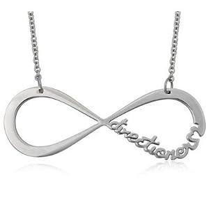 Collier One Direction Infini Infinity Argenté