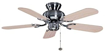 Fantasia Capri Ceiling Fan 36in Stainless Steel