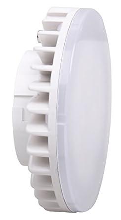 XQ-lite XQ1389 LED-Leuchtmittel Downlight Sockel GX53, [7 Watt ersetzt 40 Watt], 500 Lumen / 120° Abstrahlwinkel / warm weiß
