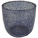 AKP Glass Decorative Candle Stands - 3 Inch X 3 Inch, Blue - B01H5I7D7M