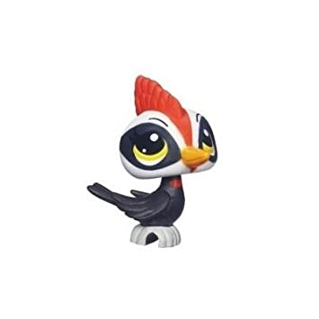 Littlest Petshop 3571- Figurine - Petshop Single - WOODPECKER le Pivert