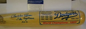 PEE WEE REESE AUTOGRAPH BAT BROOKLYN DODGERS PSA by Bud