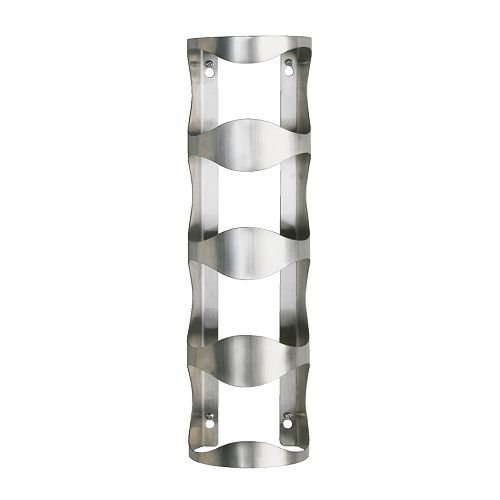 Buy Cheap Nava New Stainless Steel 4 Bottle Wine Rack Bar Kitchen Wall Mount Holder Racks Holders Deals