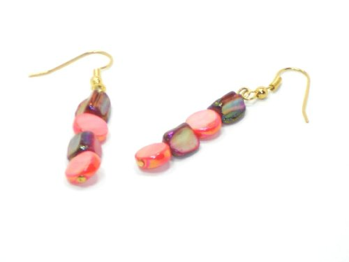 Gold Filled Earrings with Pink Pearls