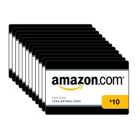 Amazon.com $10 Gift Card - Box of 50 Cards