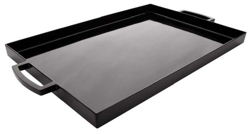 Zak Designs 17 by 11-1/2-Inch Large Rectangular Tray, Black