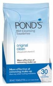 Pond's Original Clean Wet Cleansing Towelettes 30ーCount