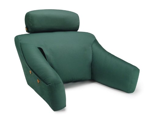 BedLounge Hypoallergenic (Regular Size, Green Color, 100% Cotton Cover): The Ultimate Back Wedge, Bed Rest, Back Support, Comfort Reading Pillow
