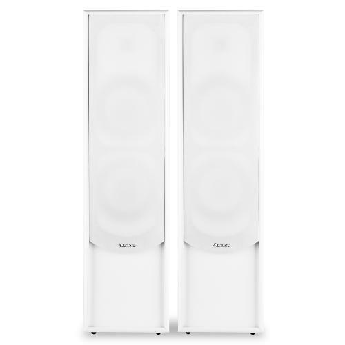 Auna Linie-300-WH - Paire d'enceintes colonnes passives à 2 voies Bassreflex 80W RMS - blanc