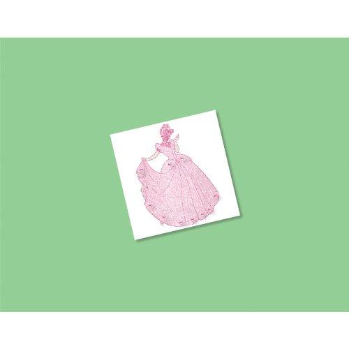"Amscan Disney Princess Body Jewelry, Pink, 2"" x 2"""