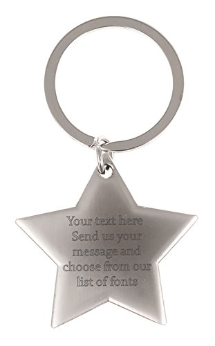 personalised-engraved-keyring-keychain-custom-made-text-personal-message-silver-star-keyring-font-3-