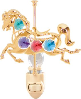Carousel Horse Night Light..... With Mixed Color Swarovski Austrian Crystals front-892802