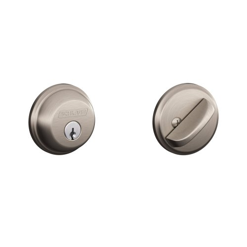 Schlage B60N 619 Single Cylinder Satin Nickel Deadbolt (Grade 1 Deadbolt compare prices)