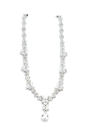 Nina Bridal Sandria Genuine Crystal Drop Necklace Jewelry Accessory