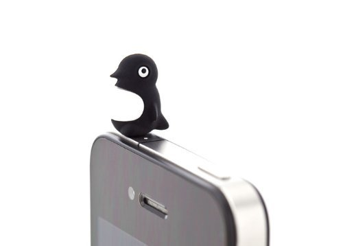 Bone Penguin Silicone Anti Dust Plug Earphone Cap Jack Headphone Port Stopper Caps For Smartphones Tablet Notebook With 3.5Mm Headphone Ports For Apple Iphone Ipod 3 3G 3Gs 4 4Gs 4S Iphone 3 4 4S 5/Ipad 1 2 3 /Ipad Mini/ Samsung Galaxy Tab 10.1 P7500 P511