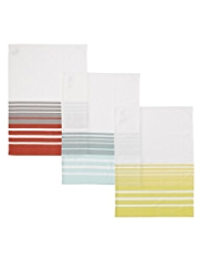 3 Modern Living Striped Tea Towels