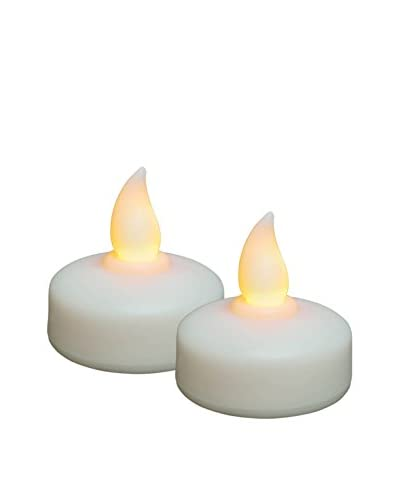 Candle Impressions Flameless Candle 2 Pack Floating Tea Lights, White
