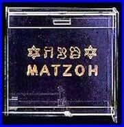 Clear Acrylic Flip top Matzah Box Holder
