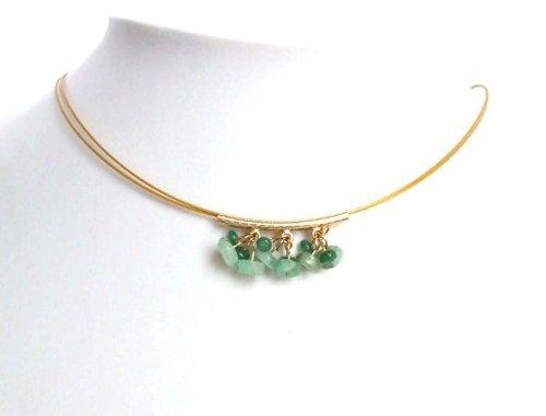 GS Smaragd Collier Smaragd Halskette Gold 585 Filled LOLLO Halskette für Damen