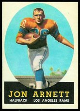 1958 Topps Regular (Football) Card# 20 Jon Arnett of the Los Angeles Rams VG Condition