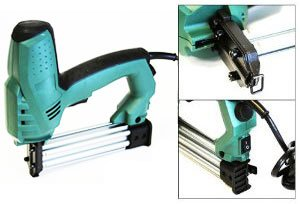 Xtremepowerus Adjustable Pressure Electric 2 In 1 Crown Staple / Brad Stapler/ Nailer (T & U Nail)